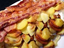 aardappelen met spek