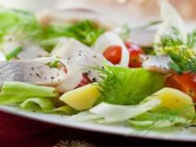 aardappelsalade met rolmops