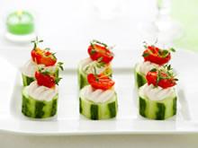 aperitiefhapjes met komkommer