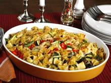 gebakken pasta met groentjes