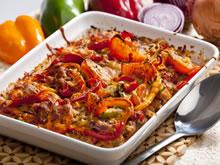 gerecht met gehakt en paprika