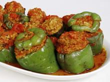 recepten gevulde paprikas met gehakt