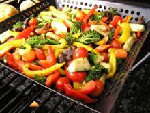 gegrillwokte groenten