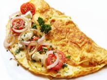 omelet met geitenkaas