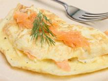 omelet met gerookte zalm