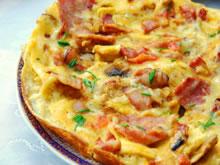 omelet met spek