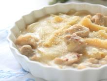 pasta met kip en kaassaus