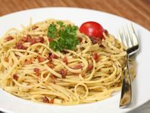 pasta met look en spek