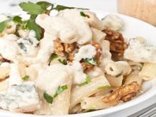 pasta met roquefort en walnoten