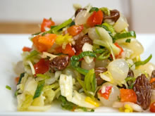 prei met witte kool salade