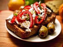 wadkornbroodje op zijn Grieks