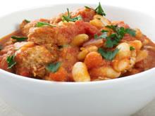 witte bonen in tomatensaus met gehakt